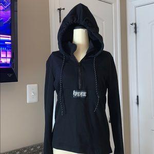 PINK half zip up hoodie